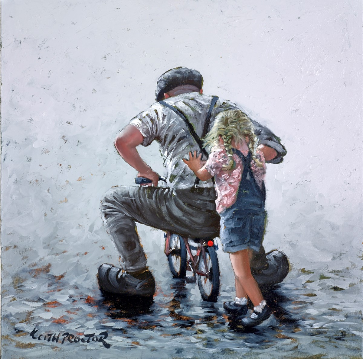 Young at Heart Study by keith proctor -  sized 24x24 inches. Available from Whitewall Galleries
